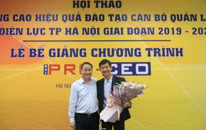 57 nhà lãnh đạo cấp cao của EVN HANOI nhận chứng chỉ Giám đốc điều hành chuyên nghiệp của HSB