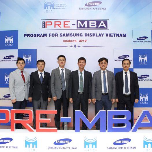 Khai giảng khóa PRE-MBA 4, HSB tiếp tục là đối tác chiến lược của Samsung