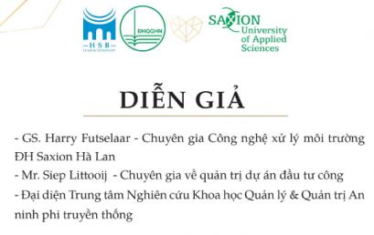 Hội thảo chuyên đề: Các giải pháp đảm bảo an ninh môi trường Kinh nghiệm của Hà Lan & Việt Nam