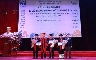 Lễ khai giảng và Trao bằng tốt nghiệp các chương trình đào tạo sau đại học năm 2020 tại HSB