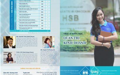 Thông báo tuyển sinh Chương trình Thạc sĩ Khoa học Quản trị Kinh doanh (HSB-MBM) năm 2021
